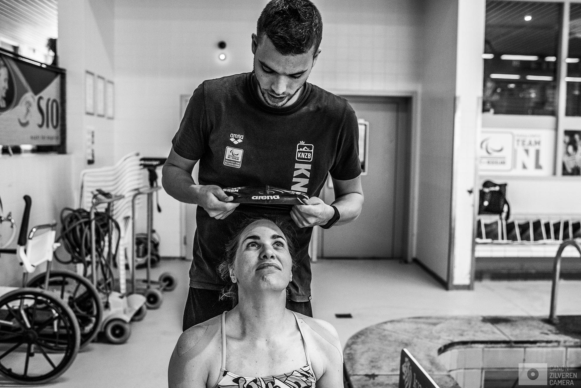 Amersfoort, Nederland, 15.06.2017Sander Nijhuis (bondscoach) en Lisette Teunissen