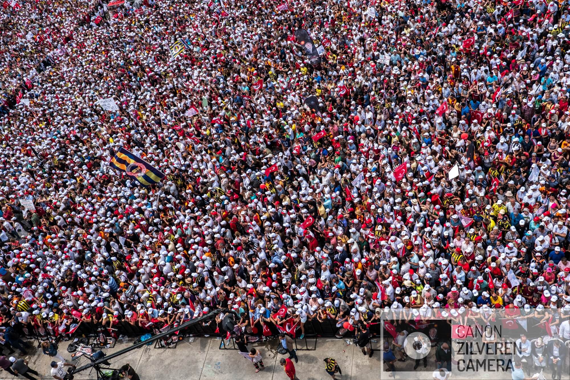 Istanbul, Turkey, June 23, 2018 | PHOTO #3  | A huge crowd of CHP supporters is seen during the last rally of CHP's Muharrem Ince in Istanbul.  Photo: Joris van Gennip