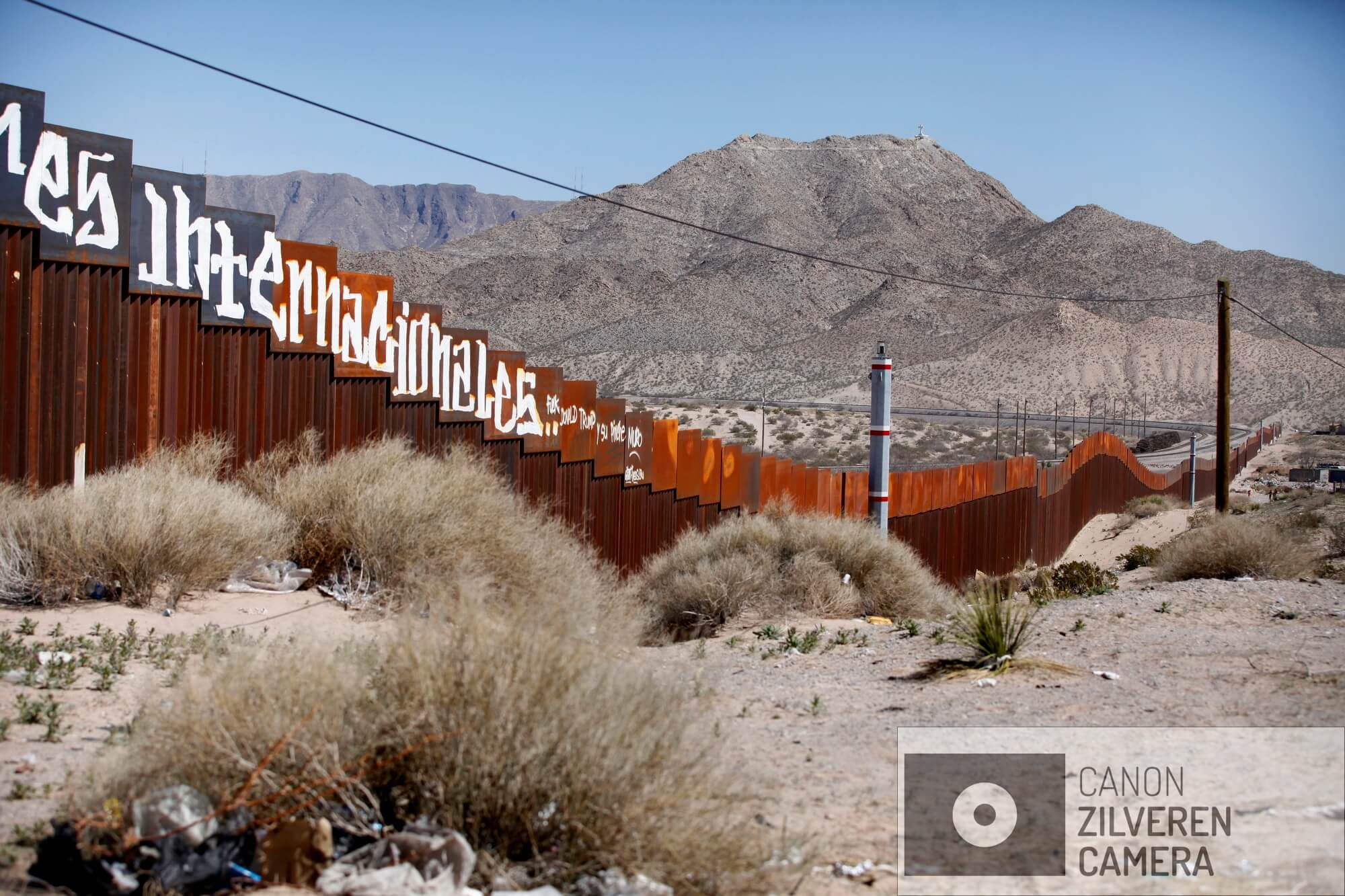 De grens tussen Mexico en de USA