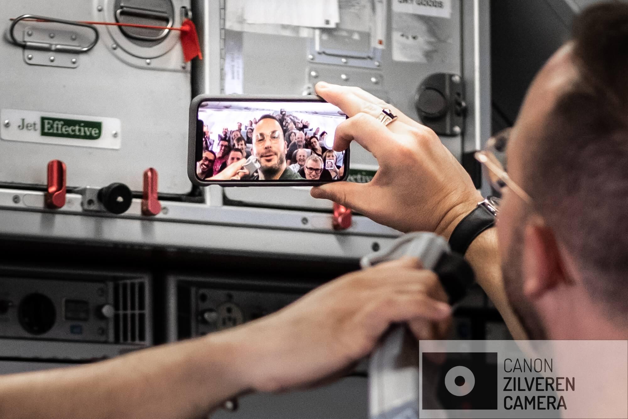 De traditionele tour-selfie.