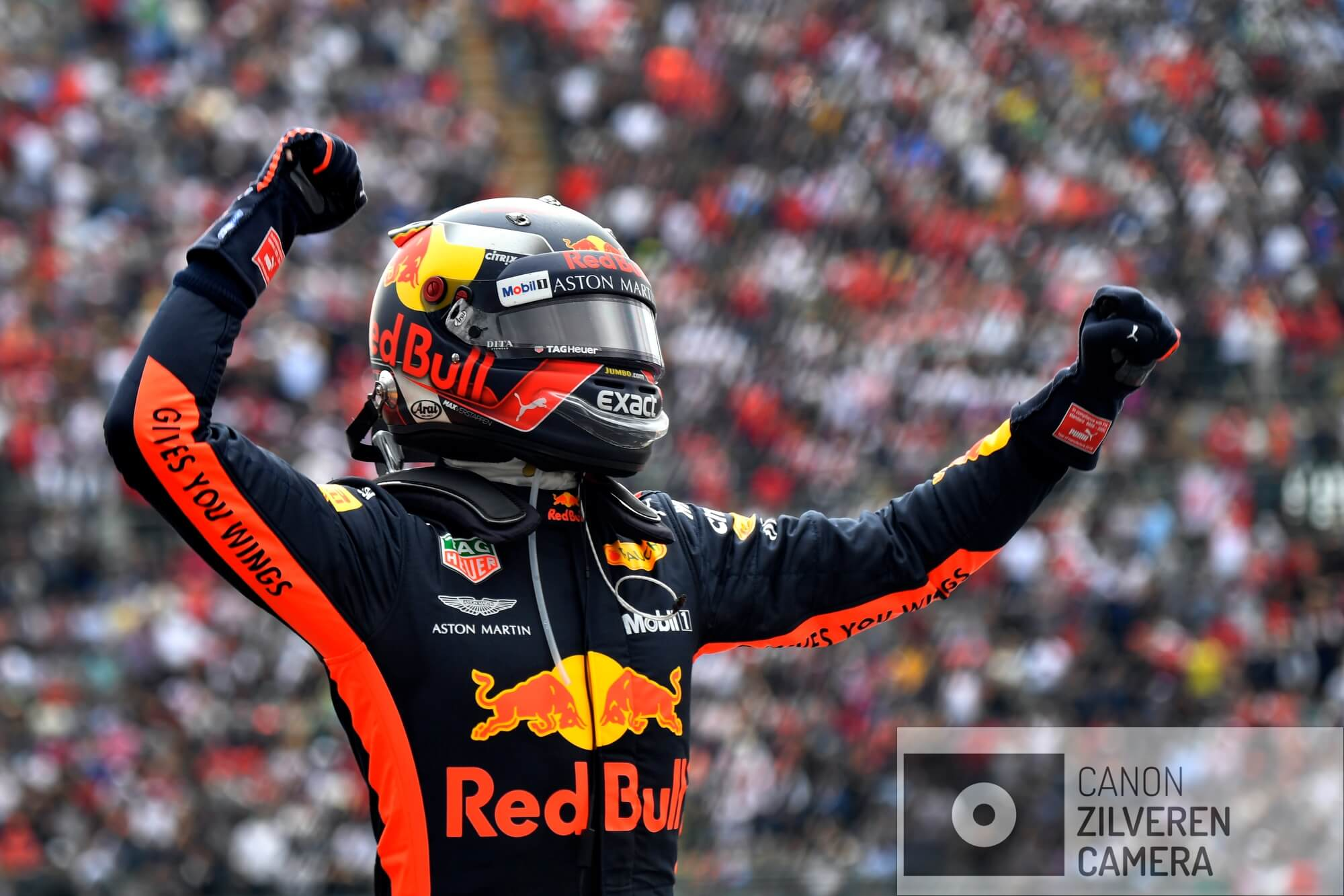 Max Verstappen (NED) wins the Mexican GP, #33, Red Bull Racing, Grand Prix Mexico 2018, Formula1, Round 19, Circuit Autódromo Hermanos Rodríguez, Mexico City, Mexico.